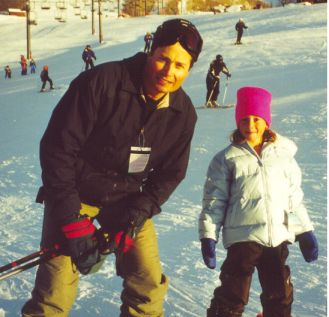 Lynelle and Dad at the chair lift